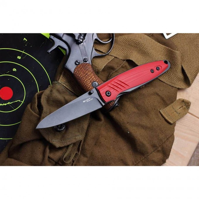 Нож MR BLADE RED SHOT BLACKWASH